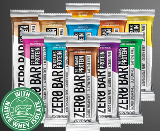 BioTech Zero Bars, protein bars, high protein snacks