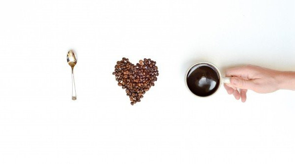 Coffee beans, love, caffeine