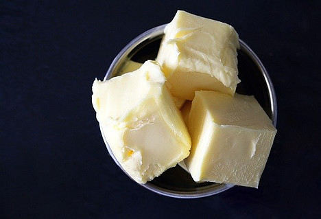 Foods not to put in the fridge - chunks of butter