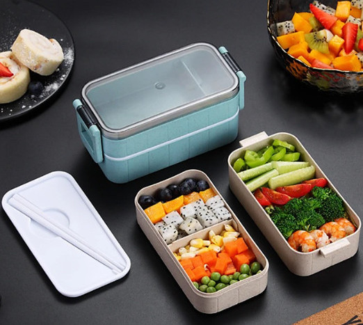 Microwave-safe meal prep containers - bento lunch box