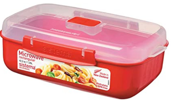 Microwave-safe meal prep containers - Sistema microwave rectangular container