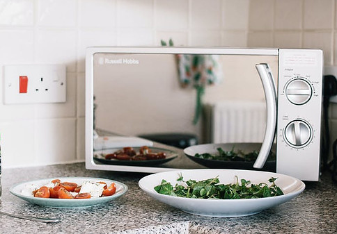 Tips for cooking in bulk - Russell Hobbs silver microwave