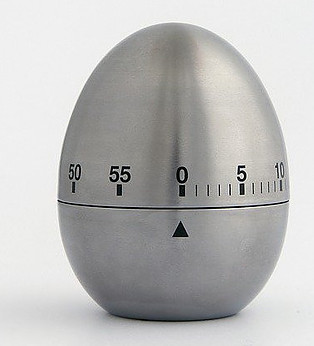 Tips for cooking in bulk - silver egg timer