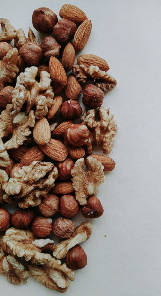 Low calorie food swaps - Mixture of nuts on table