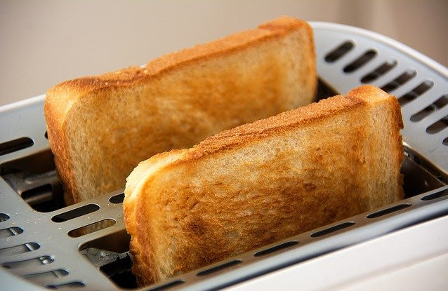 Healthy toast toppings - 2 slices of white bread toasted in toaster