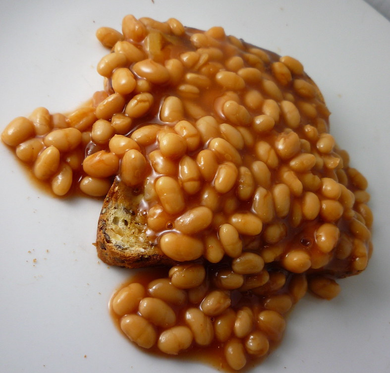 Healthy toast toppings - baked beans on toast