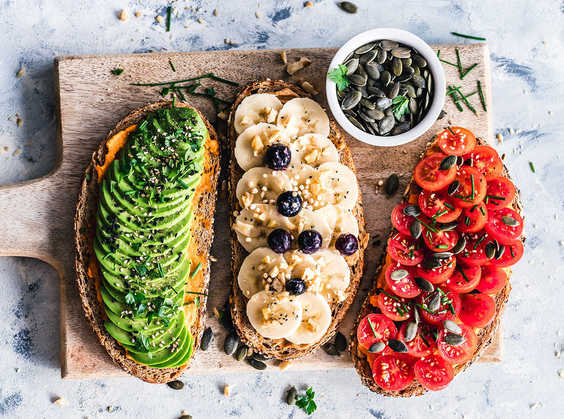 Healthy toast toppings - fruit and vegetable toast toppings
