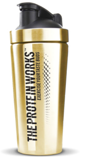 Gym gifts for her - The Protein Works Black 'N' Gold Shaker