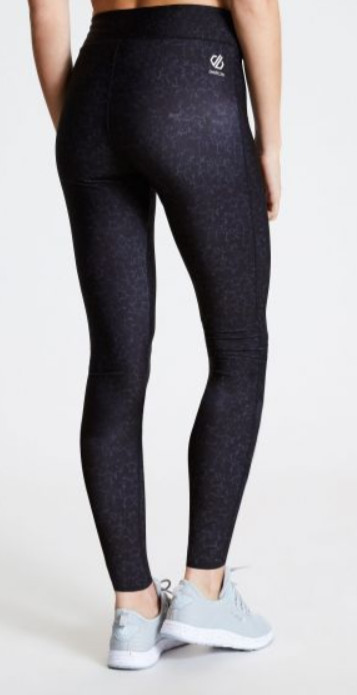 Gym gifts for her - Woment's Influential Leggings Black Molecular Print