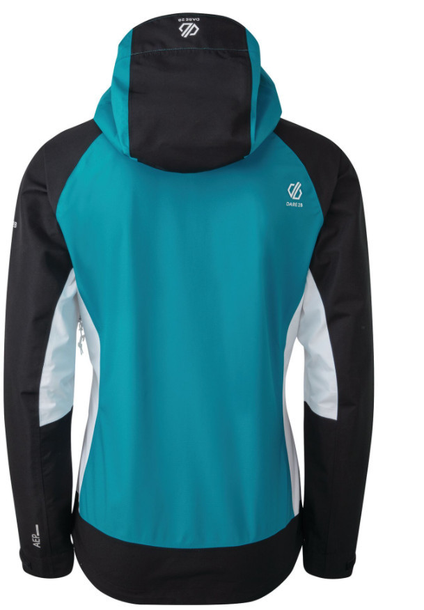 Hiking gifts for women - Women's Checkpoint Lightweight Waterproof Hooded Jacket Freshwater Blue Black