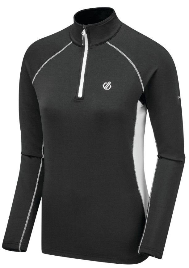Workout tops for women - Women's Involved II Half Zip Lightweight Core Stretch Midlayer Black