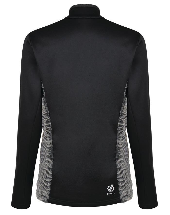 Workout tops for women - Women's Impearl Full Zip Faux Fur Luxe Stretch Midlayer Black Charcoal